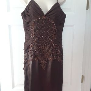 BEADED DRESS BY CACHE LUXE size 8
